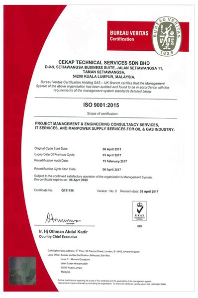 cekap ISO 9001:2015 CERTIFIED